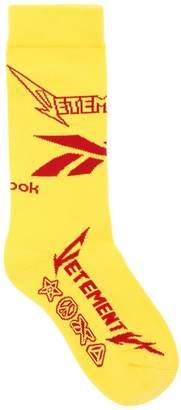 Vetements Reebok Metal Cotton Blend Socks