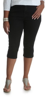 Lee Riders Women's Plus Modern Midrise Cuffed Capri
