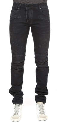 Pierre Balmain Slim-Fit Moto Jean