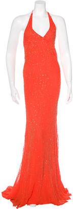Vera Wang Embellished Halter Dress $155 thestylecure.com