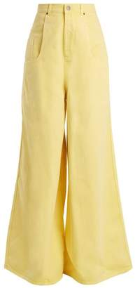 Martine Rose - Wide Leg Jeans - Womens - Light Yellow