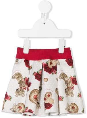 MonnaLisa printed polka dot skirt