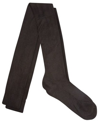 Raey - Over The Knee Silk Socks - Womens - Black