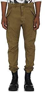 R 13 Men's Drop-Rise Cotton Canvas Cargo Pants - Olive