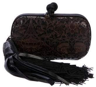 Bottega Veneta Cutout Leather Knot Clutch