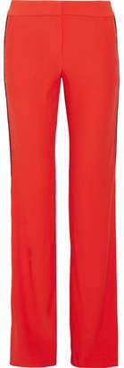 La Ligne - Pipeline Striped Crepe Flared Pants - Tomato red