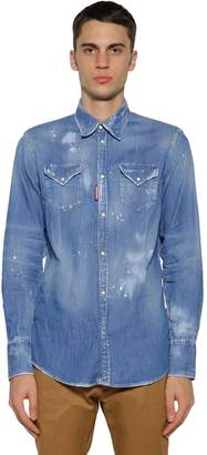 DSQUARED2 Western Cotton Denim Shirt