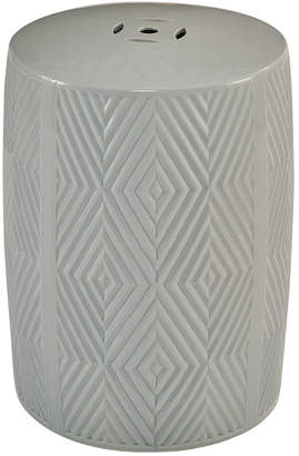 Abbyson Living Marianne Grey Ceramic Garden Stool