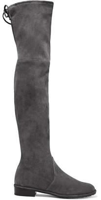 Stuart Weitzman - Lowland Suede Over-the-knee Boots - Dark gray