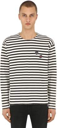The Kooples Striped Cotton Jersey T-Shirt