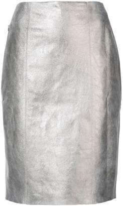Akris fitted knee length skirt
