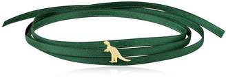 Green Satin Choker With Rexy Charm