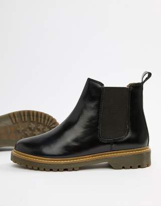 Office Ali black leather chelsea boots