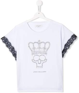 John Galliano TEEN crystal crown T-shirt