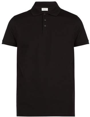 Saint Laurent Signature Polo Shirt - Mens - Black
