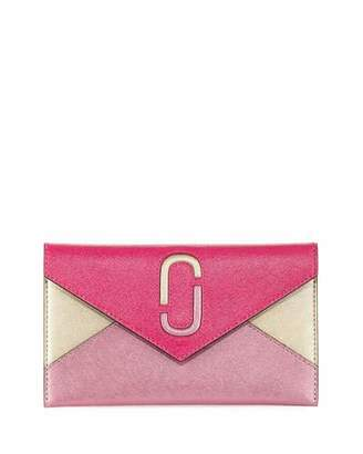Marc Jacobs Liaise Metallic Envelope Clutch Bag
