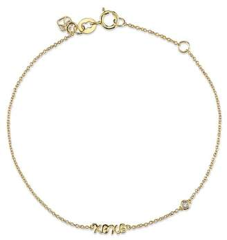 Sydney Evan Syd by 14K Yellow Gold Plated Sterling Silver Diamond 'XOXO' Bracelet - 0.015 ctw