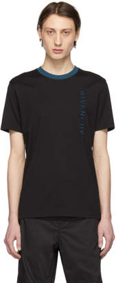 Givenchy Black Vertical Logo Slim-Fit T-Shirt