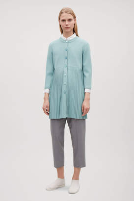 Cos LONG PLEATED CARDIGAN