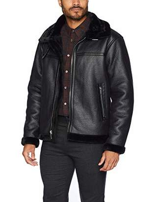 Members Only Men's Faux Shearling Jacket