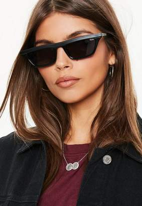 Missguided Quay Australia X Alissa Violet Finesse Black Smoke Sunglasses