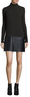 Bailey 44 Pixie Faux Leather Panel Dress $218 thestylecure.com