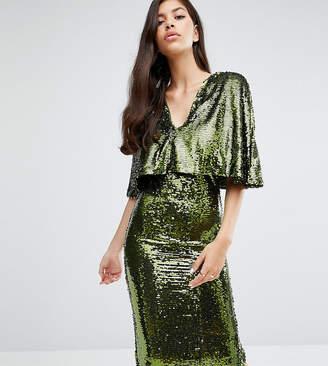 Club L Overlay Midi Dress In Sequin