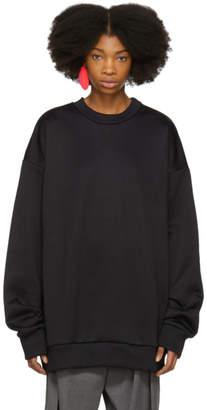 Marques Almeida Black Oversized Sweatshirt Dress