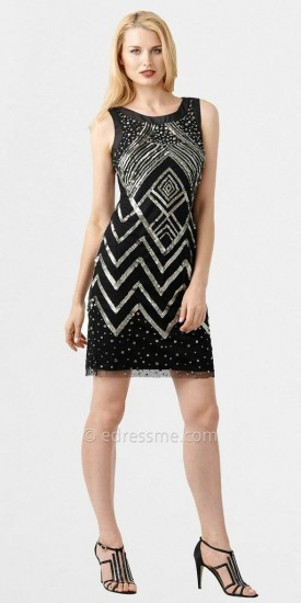 Adrianna Papell Geometric Sparkle Party Dresses