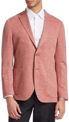 Saks Fifth Avenue COLLECTION Melange Knit Blazer