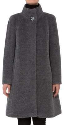 Cinzia Rocca Mock Neck A-Line Coat