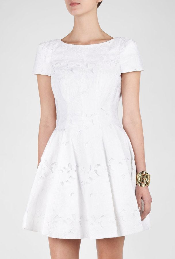Tibi Floral Embroidered Aline Dress