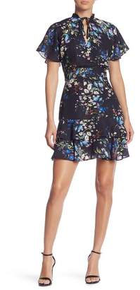 Parker Short Ruffled Print Dress