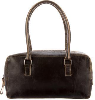 Miu MiuMiu Miu Distressed Leather Shoulder Bag
