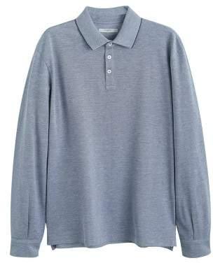 Mango Man MANGO MAN Patterned cotton polo shirt