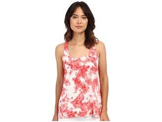 Calvin Klein Jeans Printed Mixed Media Tank Top Women's Sleeveless