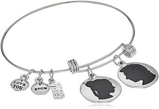 Star Wars Jewelry Han Solo and Princess Leia Expandable Charm Bracelet