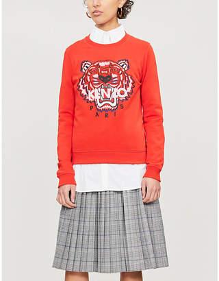 Kenzo Tiger logo-print cotton-jersey sweatshirt