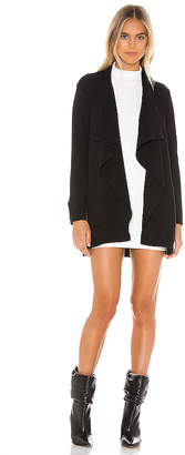 Cupcakes And Cashmere Marta Sweater Drape Front Jacket