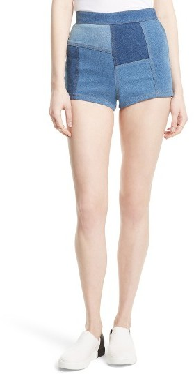 Women's Free People High & Tight Patchwork Denim Shorts