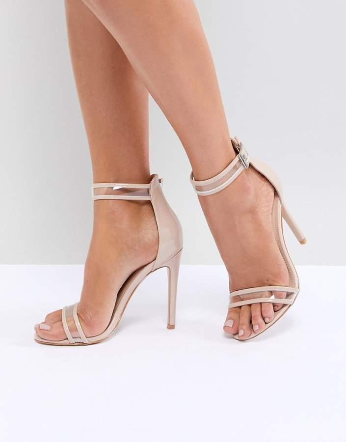 Public Desire Aurelia Clear Strap Sandals