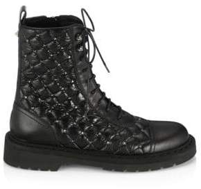 Valentino Rockstud Quilted Combat Boots