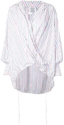 Rosie Assoulin striped wrap shirt
