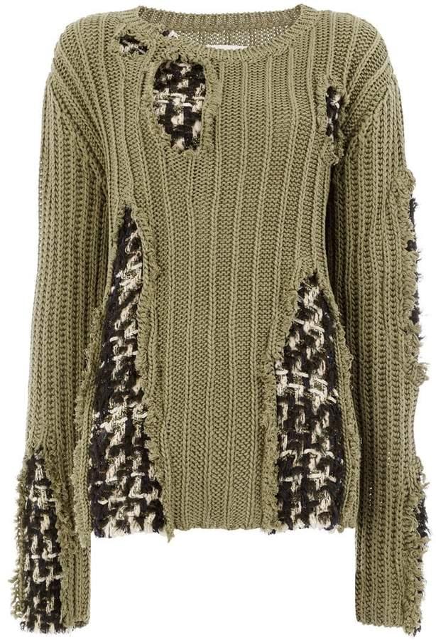 woven detail jumper