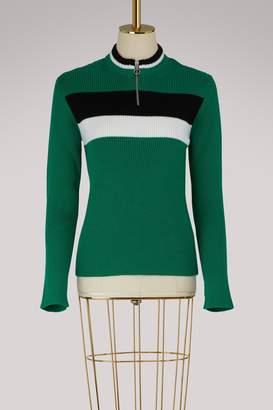RED Valentino Zipped crew neck sweater