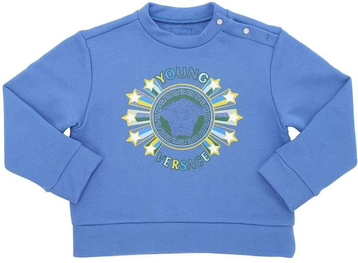 Logo Print Cotton Jersey Sweatshirt