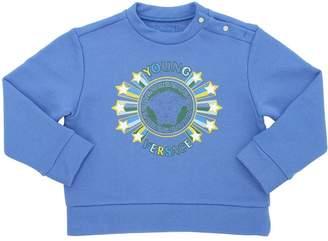 Versace Logo Print Cotton Jersey Sweatshirt