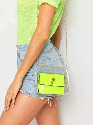Shein Chain Strap Clear Crossbody Bag With Inner Bag