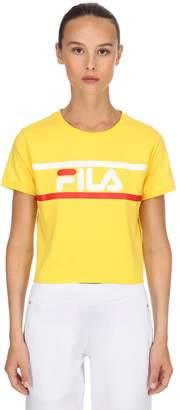 Fila Urban Ashley Logo Cotton Cropped T-Shirt