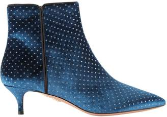 Aquazzura Polka Dot Embroidered Quant Booties